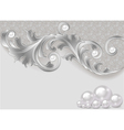 background with a scattering of pearls vector image
