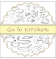 go to kitchen vector image