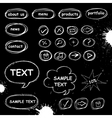 Set of doodle computer icons vector image