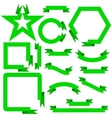 Set green ribbons and banners vector image vector image