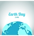 Earth Day in blue vector image