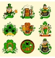 Set of nine pictures for St Patricks Day vector image