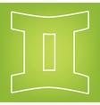 Zodiac line icon vector image