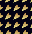 Seamless gold pattern with hearts vector image