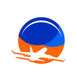 Logo Travel Holidays Plane Tourism vector image