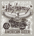 American highways rider vector