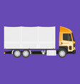 big truck with cargo vector image