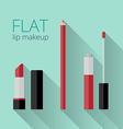 Flat lip makeup set vector image