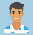 man portrait modern avatar flat design vector image