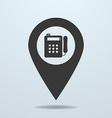 Map pointer with a payphone symbol vector image