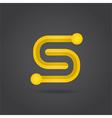 S letter system symbol vector image