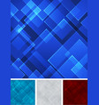 set abstract blue red gray square shape vector image