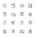 Shopping e-commerce icon vector image