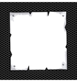 Torn sheet in blank over black texture background vector image