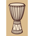 African Drum-Music Instrument vector image