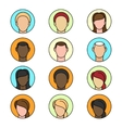 Flat chat icons set vector image