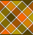 orange khaki marsh color diagonal check plaid vector image