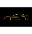 Golden abstract car logo vector image
