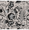 Seamless gray floral pattern vector image vector image