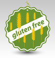 Green gluten free wheat stamp tag label vector image
