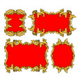 set of ornamental frames vector image