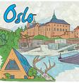 oslo doodles vector image vector image