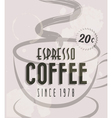 Retro Vintage Coffee Tin Sign vector image vector image