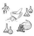 Chemists tools set vector image