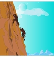 Couple Climbing Up vector image