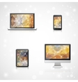 Electronic devices realistic vector image