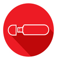 Flat Icon of USB flash drive Modern flat icons vector image