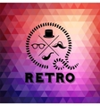 Hipster theme label background made of triangles vector image