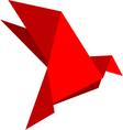 Origami dove vector image