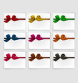 ribbon in various colours vector image