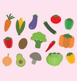 veggies time vector image
