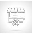 Wheel coffee shop flat thin line icon vector image