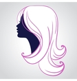 Woman face silhouette isolated vector image