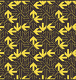 yellow arrows pattern vector image