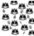 cute raccoon cartoon pattern background vector image