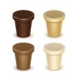 Plastic Container For Vanilla Chocolate Dessert vector image