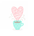 Get well soon Cup with hot tea vector image