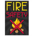 fire safety firefighting poster do not light vector image