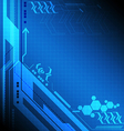 blue digital technology background vector image vector image