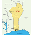 Republic of Benin - map vector image