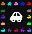 Auto icon sign Lots of colorful symbols for your vector image