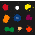 paint drops vector image