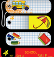 price tags school elements vector image vector image