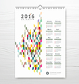 Calendar new year colorful geometric design vector image vector image