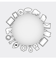 Line icons technology internet icons vector image