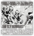 Tough rough american football crack vector image